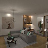 floorplans butas terasa baldai dekoras pasidaryk pats vonia svetainė virtuvė biuras apšvietimas kavinė valgomasis prieškambaris 3d