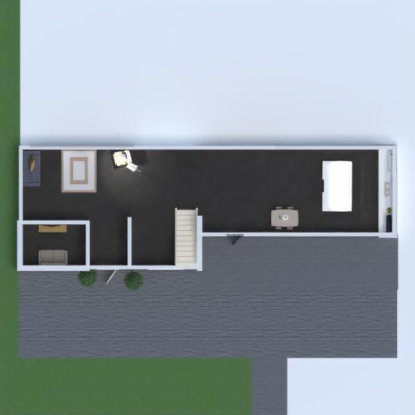 floorplans bagno studio paesaggio monolocale 3d