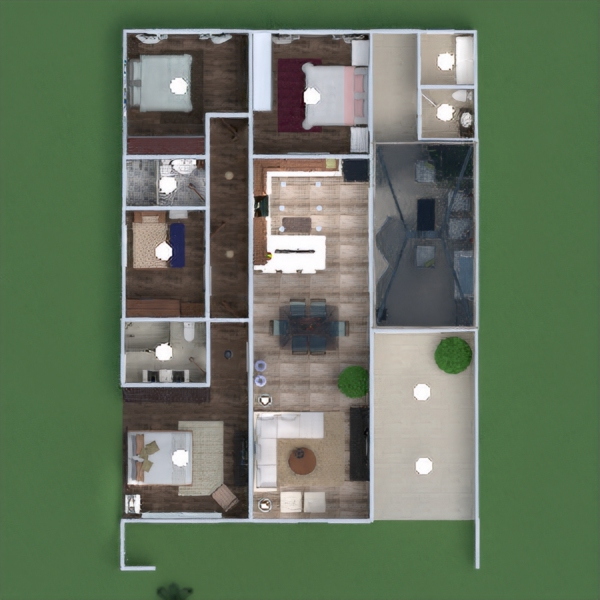 floorplans haus terrasse mobiliar dekor schlafzimmer garage küche beleuchtung architektur 3d