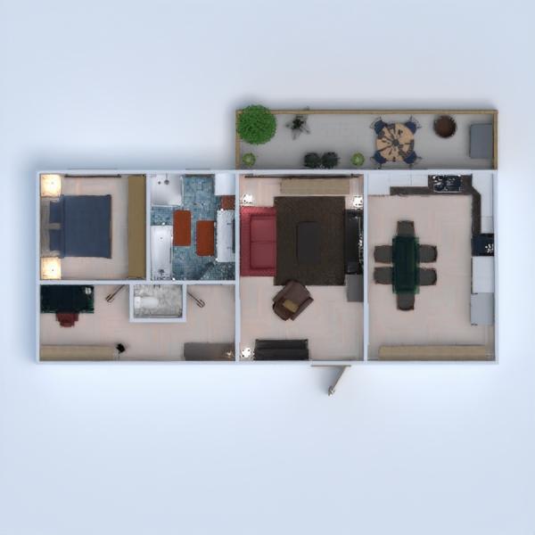 floorplans apartment terrace 3d
