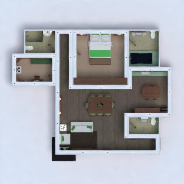 floorplans appartamento decorazioni angolo fai-da-te architettura 3d