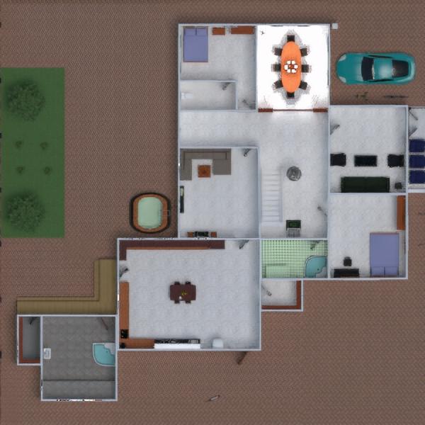 floorplans casa cuarto de baño dormitorio cocina despacho comedor trastero 3d