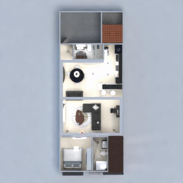 планировки квартира дом гостиная кухня 3d