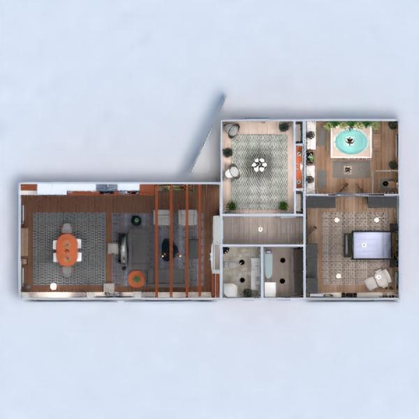 floorplans apartamento muebles decoración bricolaje cuarto de baño dormitorio salón cocina iluminación reforma hogar arquitectura estudio descansillo 3d