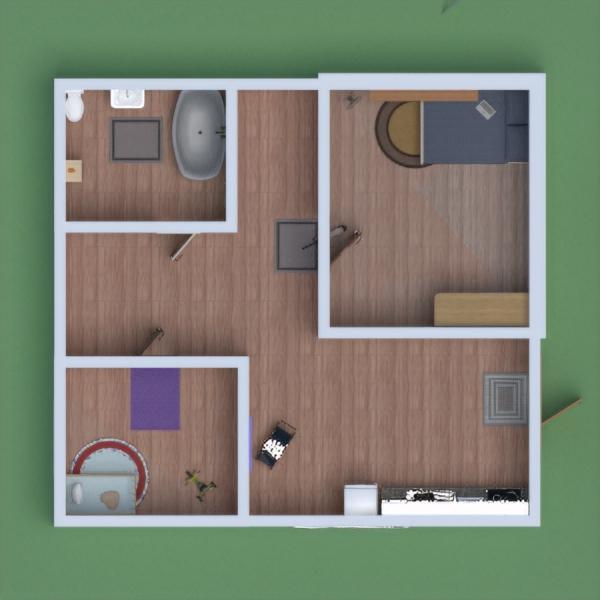 floorplans baldai dekoras vonia miegamasis vaikų kambarys 3d