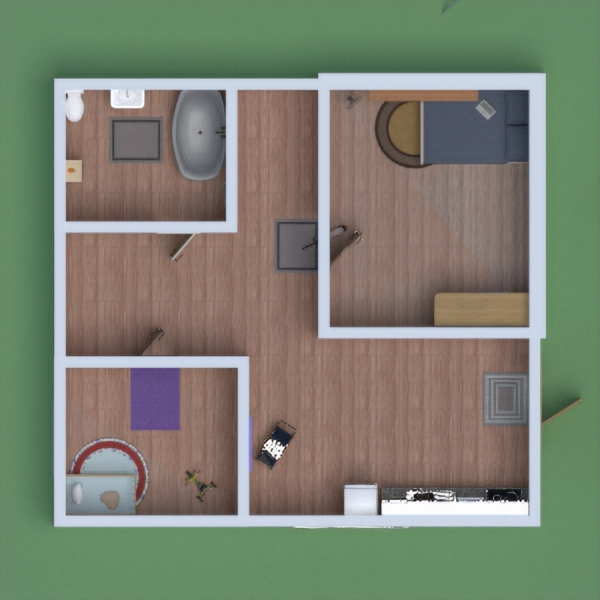 floorplans meble wystrój wnętrz łazienka sypialnia pokój diecięcy 3d
