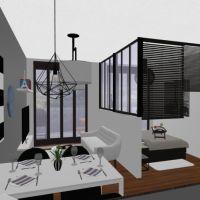floorplans apartamento casa varanda inferior mobílias decoração casa de banho dormitório cozinha área externa utensílios domésticos sala de jantar arquitetura 3d