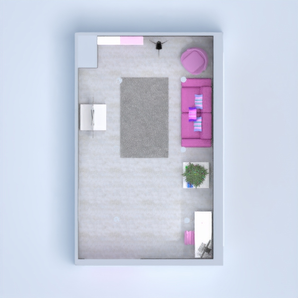 floorplans appartement chambre à coucher salon bureau studio 3d