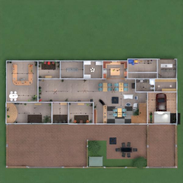 floorplans wystrój wnętrz kuchnia oświetlenie przechowywanie mieszkanie typu studio 3d