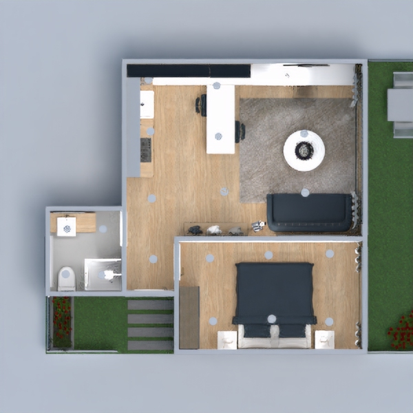 floorplans apartment bathroom bedroom kitchen dining room 3d