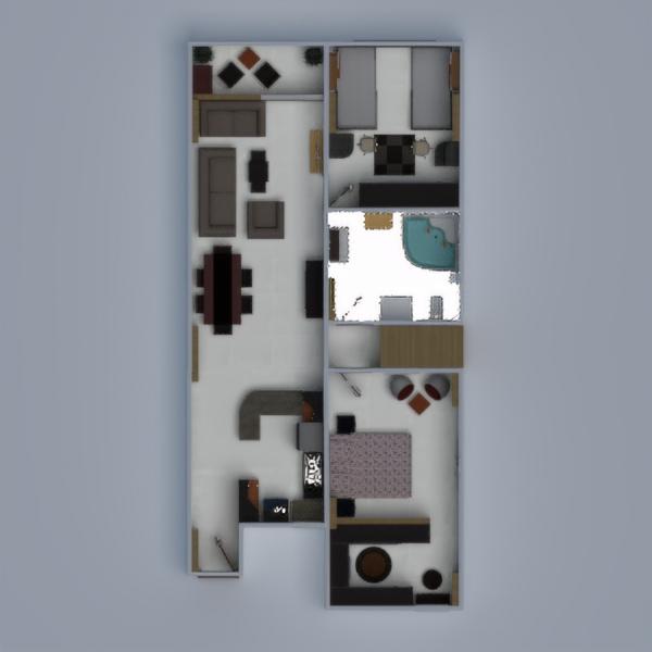 floorplans quarto infantil escritório despensa 3d
