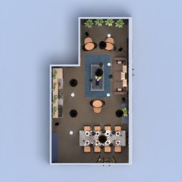 планировки дом мебель декор кухня столовая 3d
