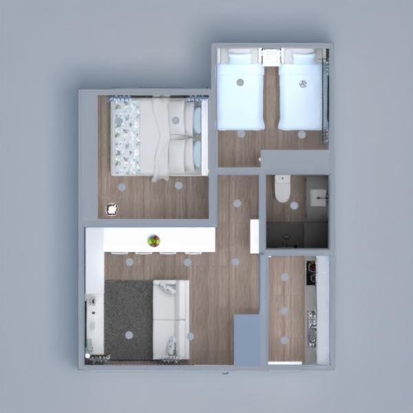 floorplans wohnung haus mobiliar dekor do-it-yourself badezimmer schlafzimmer wohnzimmer küche kinderzimmer beleuchtung haushalt esszimmer architektur lagerraum, abstellraum studio eingang 3d