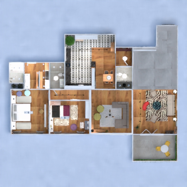 floorplans apartment furniture decor bathroom bedroom kitchen lighting household dining room architecture entryway 3d