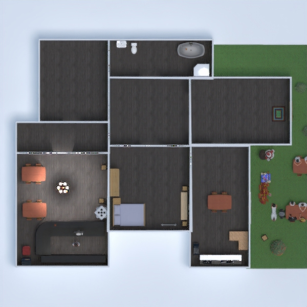 floorplans casa arredamento cucina cameretta sala pranzo 3d