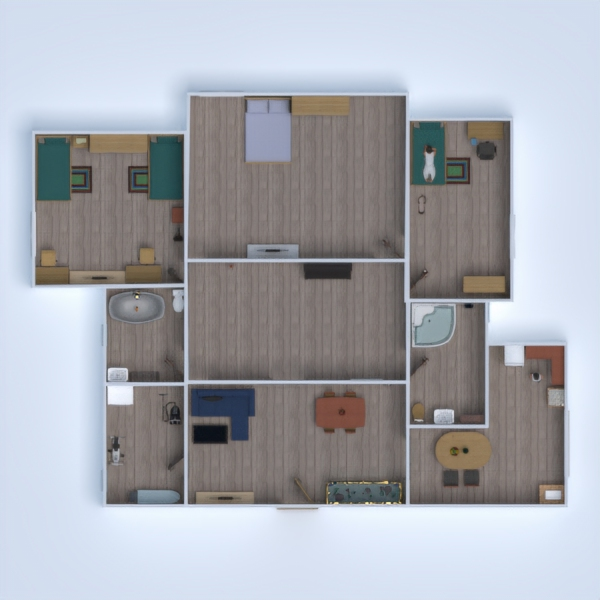 floorplans mieszkanie łazienka pokój diecięcy gospodarstwo domowe przechowywanie 3d