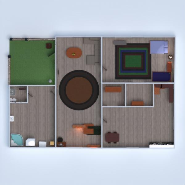 floorplans appartamento casa veranda 3d