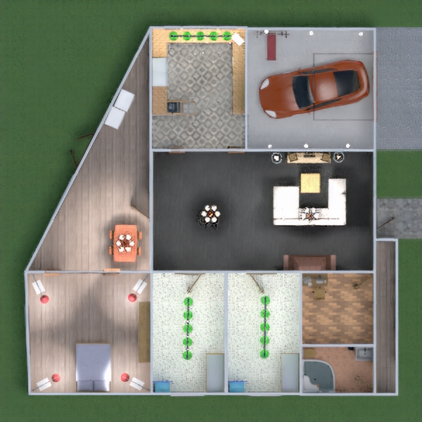 floorplans haus do-it-yourself eingang 3d