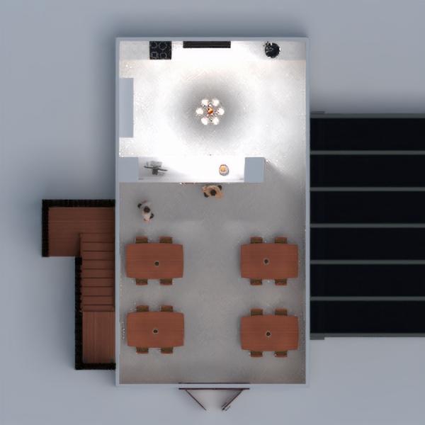 floorplans dekoras virtuvė eksterjeras kavinė studija 3d
