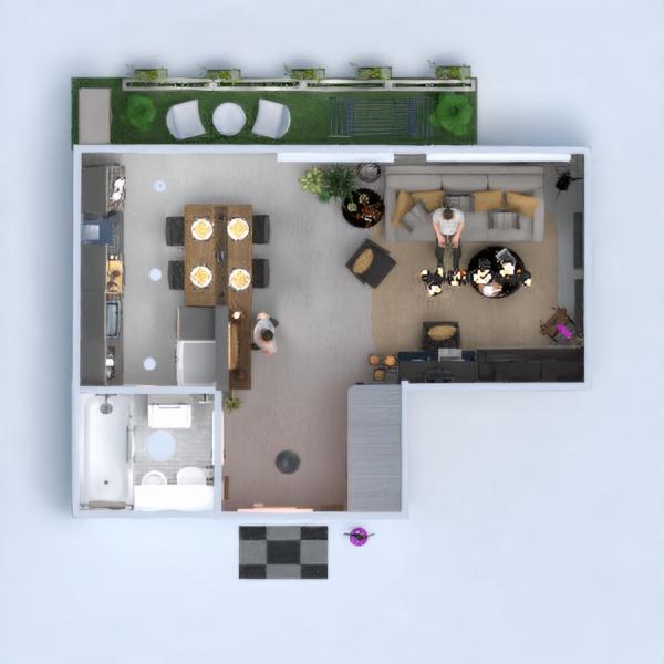 floorplans appartement meubles décoration eclairage studio 3d