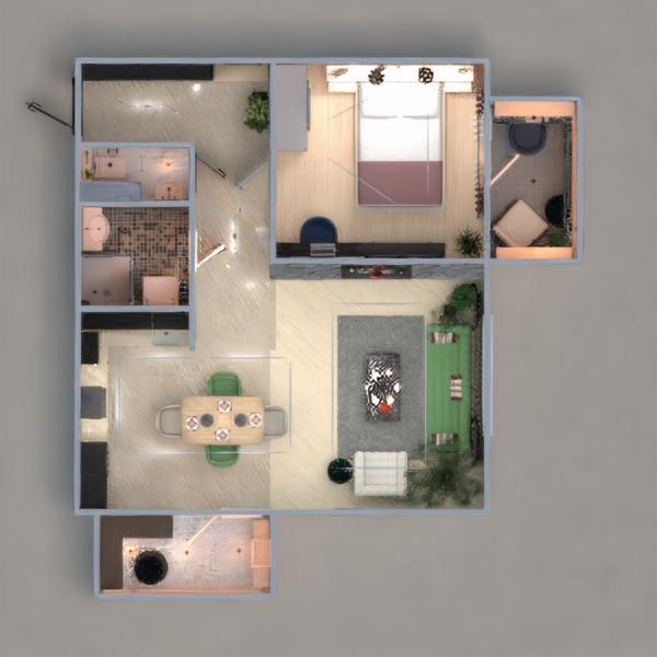 floorplans apartamento mobílias decoração 3d