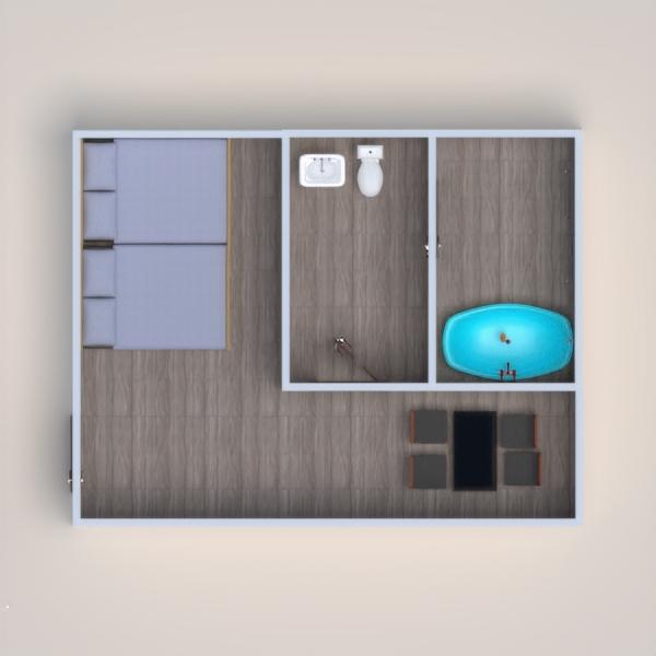 планировки дом спальня столовая 3d