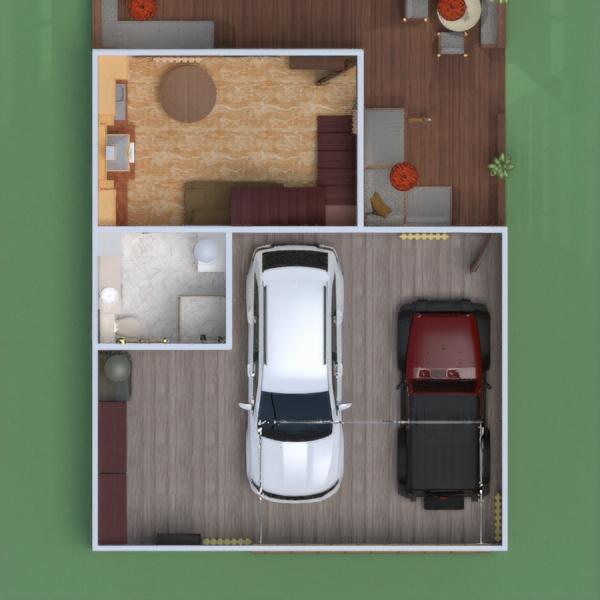 floorplans terrace garage outdoor 3d