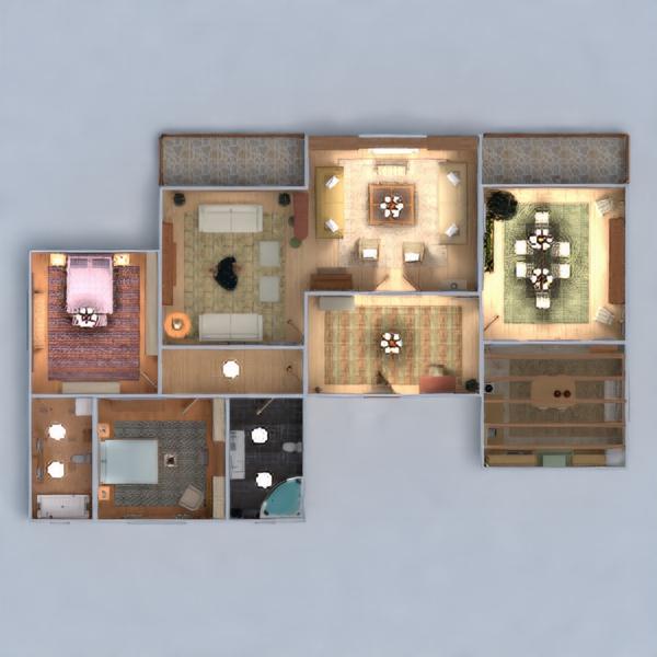 floorplans apartamento muebles decoración bricolaje cuarto de baño dormitorio salón cocina habitación infantil iluminación hogar comedor descansillo 3d