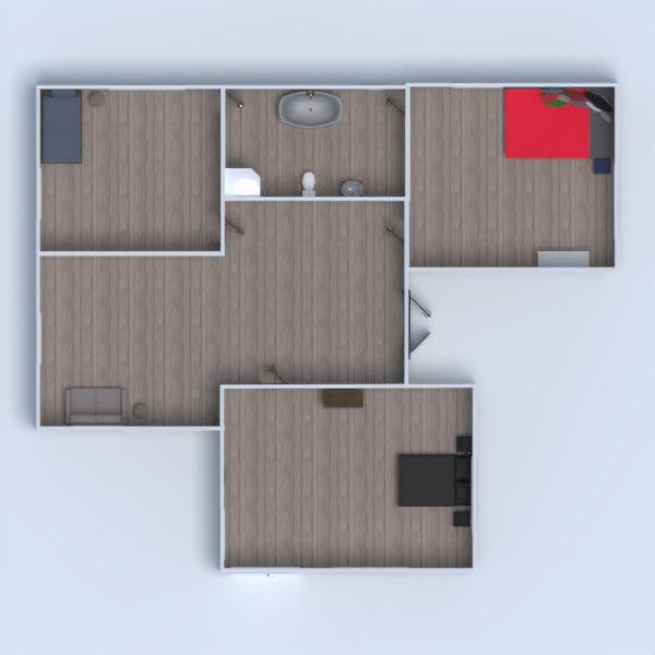 floorplans house terrace furniture kitchen 3d