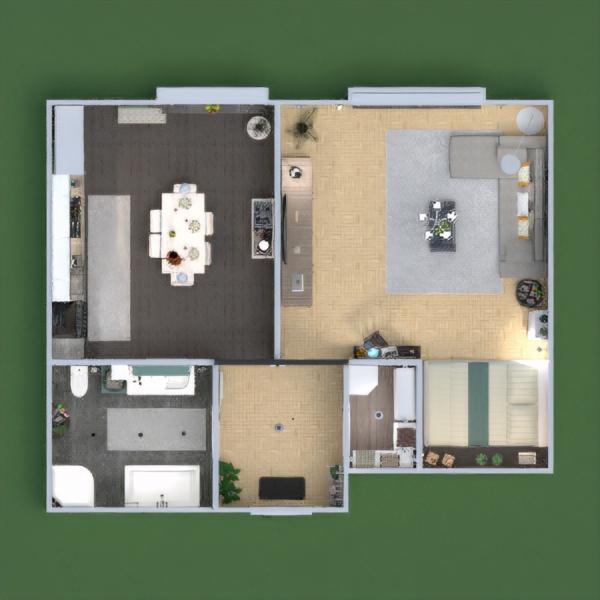 floorplans meble zrób to sam pokój dzienny kuchnia biuro oświetlenie kawiarnia mieszkanie typu studio wejście 3d