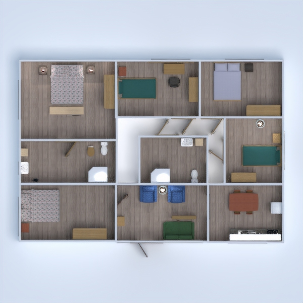 floorplans despacho estudio descansillo 3d