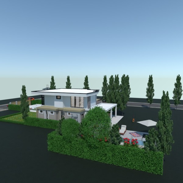 планировки дом спальня гостиная улица 3d