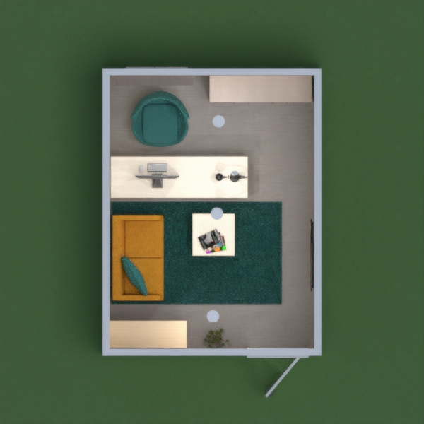 floorplans decoração escritório iluminação 3d