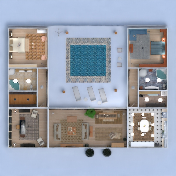 floorplans casa terraza muebles decoración bricolaje cuarto de baño dormitorio salón cocina exterior despacho iluminación paisaje hogar comedor arquitectura trastero estudio descansillo 3d