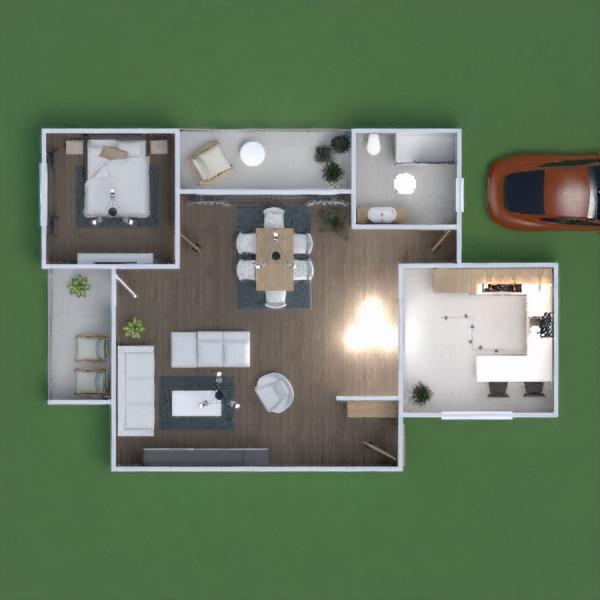 floorplans haus mobiliar garage küche kinderzimmer 3d