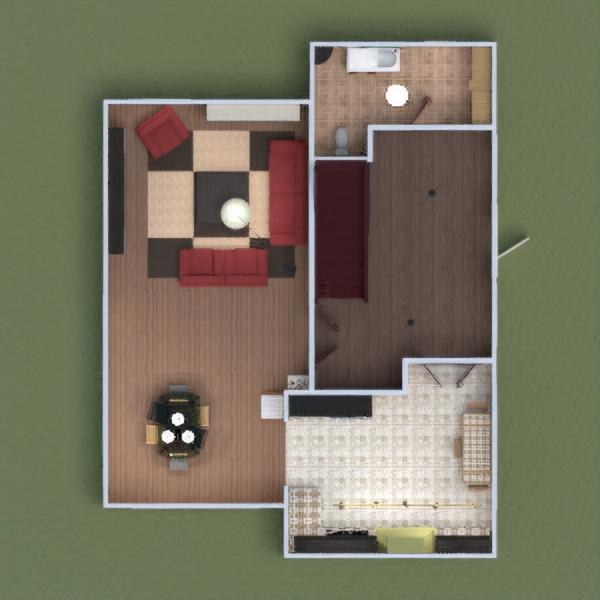 floorplans haus terrasse badezimmer schlafzimmer küche beleuchtung 3d