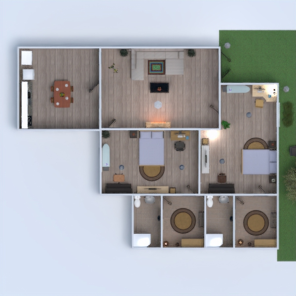 floorplans house bathroom outdoor dining room studio 3d