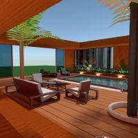 floorplans casa varanda inferior mobílias casa de banho dormitório quarto cozinha iluminação sala de jantar arquitetura 3d