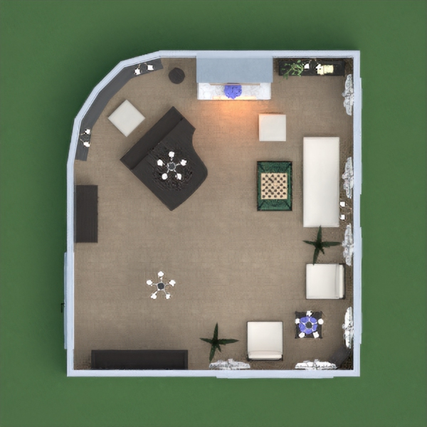floorplans mobílias decoração quarto estúdio 3d