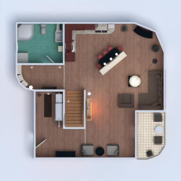 floorplans casa veranda arredamento bagno camera da letto saggiorno illuminazione famiglia sala pranzo architettura 3d