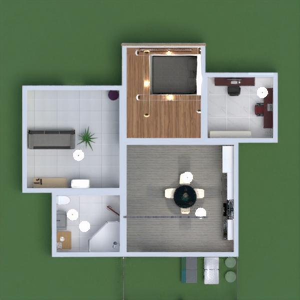 floorplans maison meubles salon cuisine bureau 3d