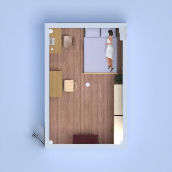 floorplans maison meubles décoration chambre à coucher eclairage 3d