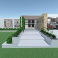 floorplans casa varanda inferior mobílias cozinha área externa 3d