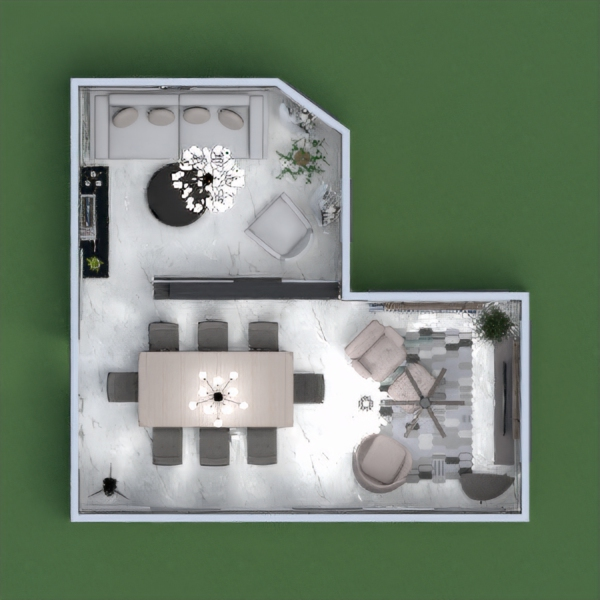 floorplans quarto sala de jantar 3d