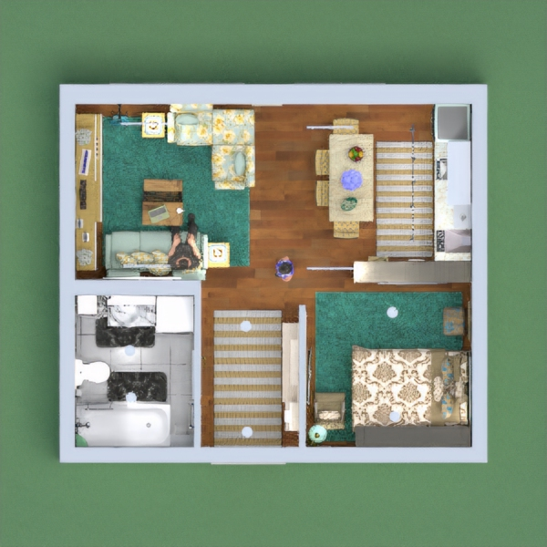 floorplans appartement décoration studio 3d