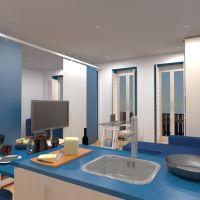 floorplans baldai miegamasis virtuvė 3d