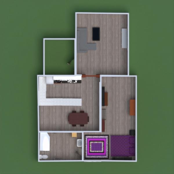 планировки квартира мебель кухня архитектура прихожая 3d