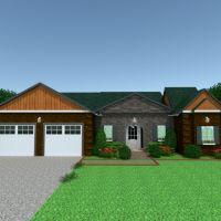 floorplans casa cuarto de baño garaje paisaje descansillo 3d
