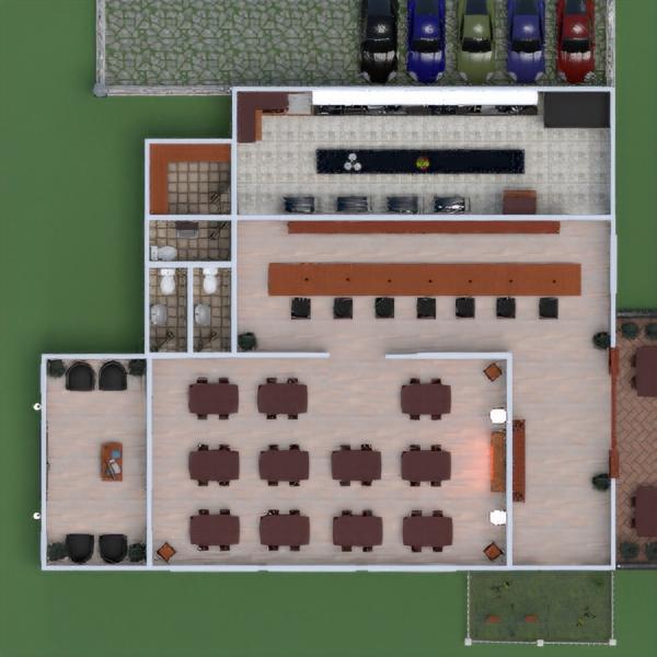 floorplans salón garaje cocina comedor 3d