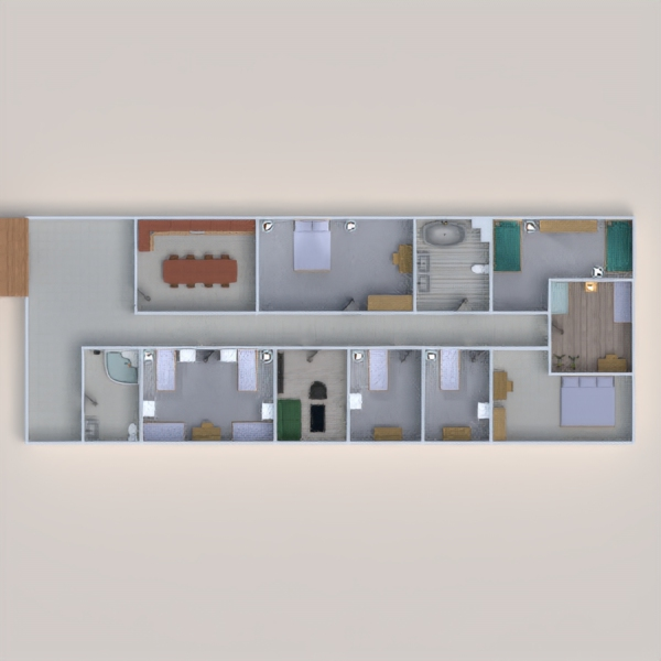 floorplans appartement maison terrasse meubles décoration 3d